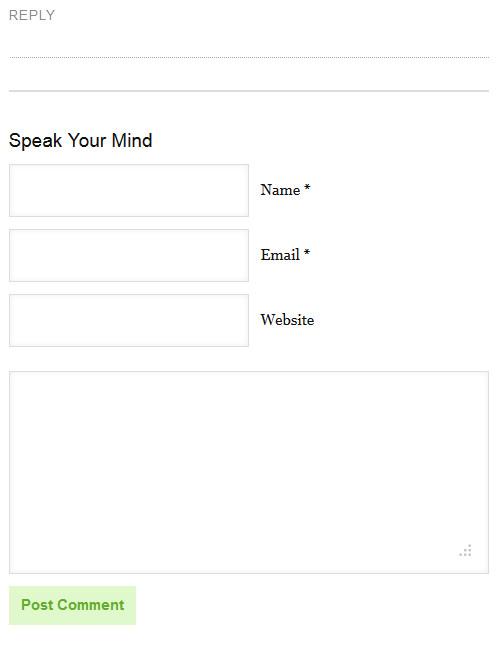 blog commenting form