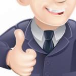thumb up man icon